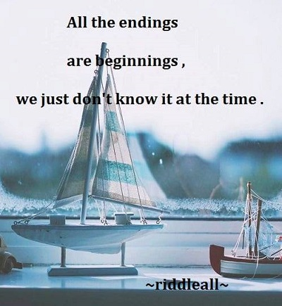 Ending is also a new start